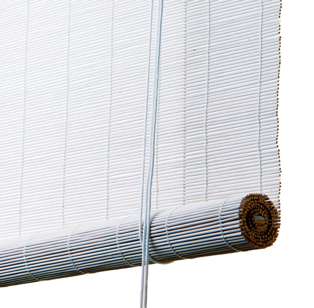 Bambus rullegardin hvidt fra color og co