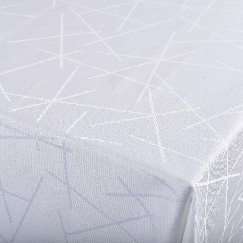 Striks damask dug fra Gartex i hvid