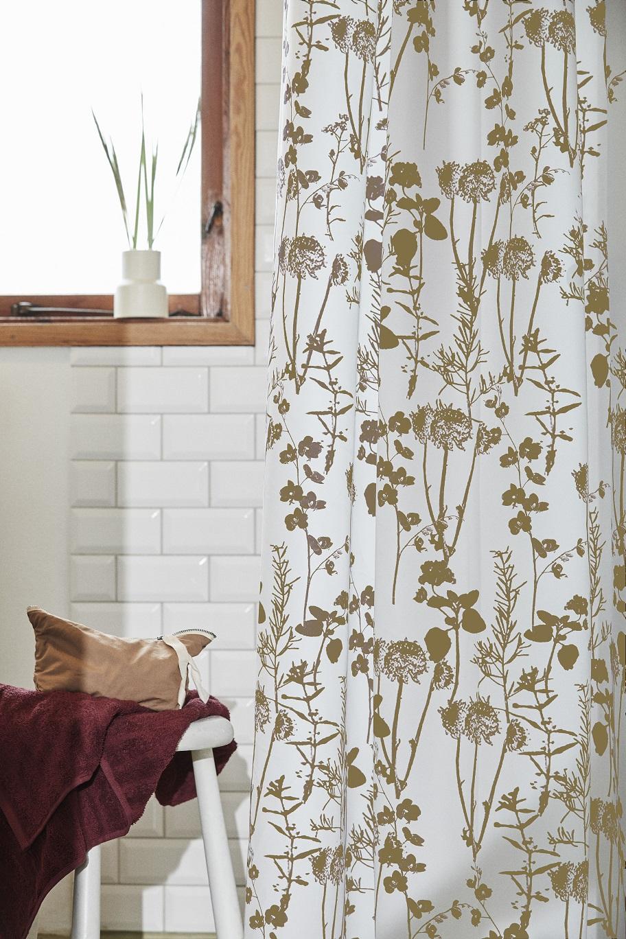 Badeforhænge Bloom gul fra gartex