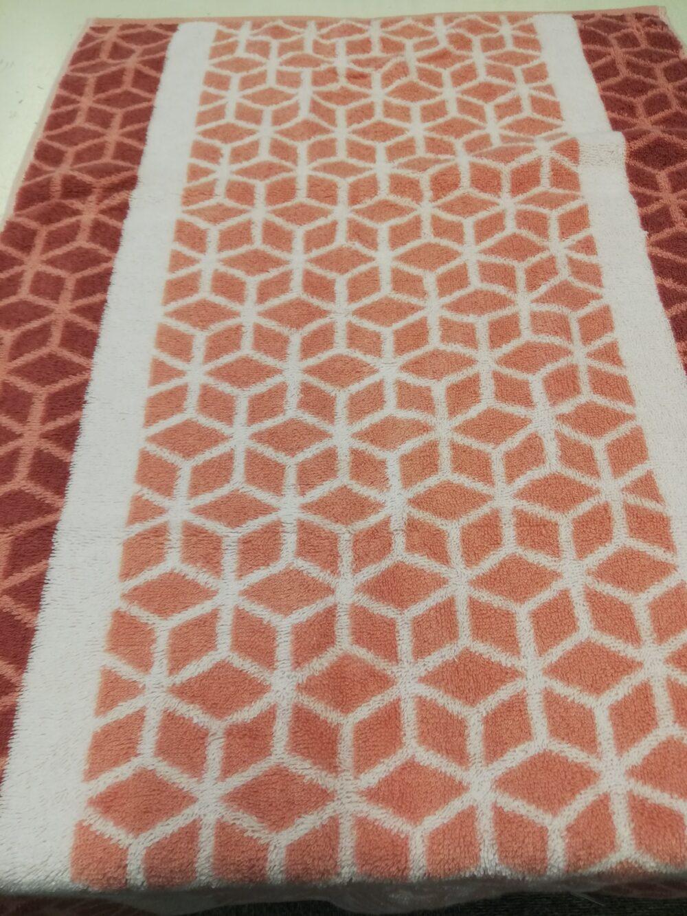 Cawö håndklæde rosa rude mønster
