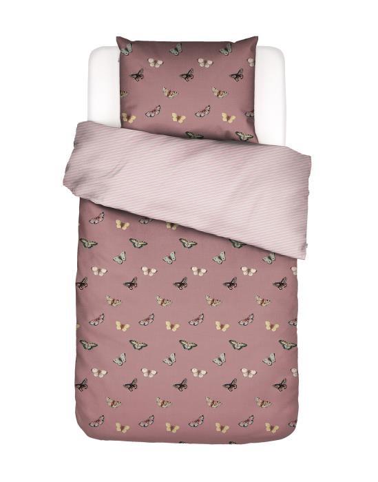 Sengelinned Papillion dusty pink fra Covers & co