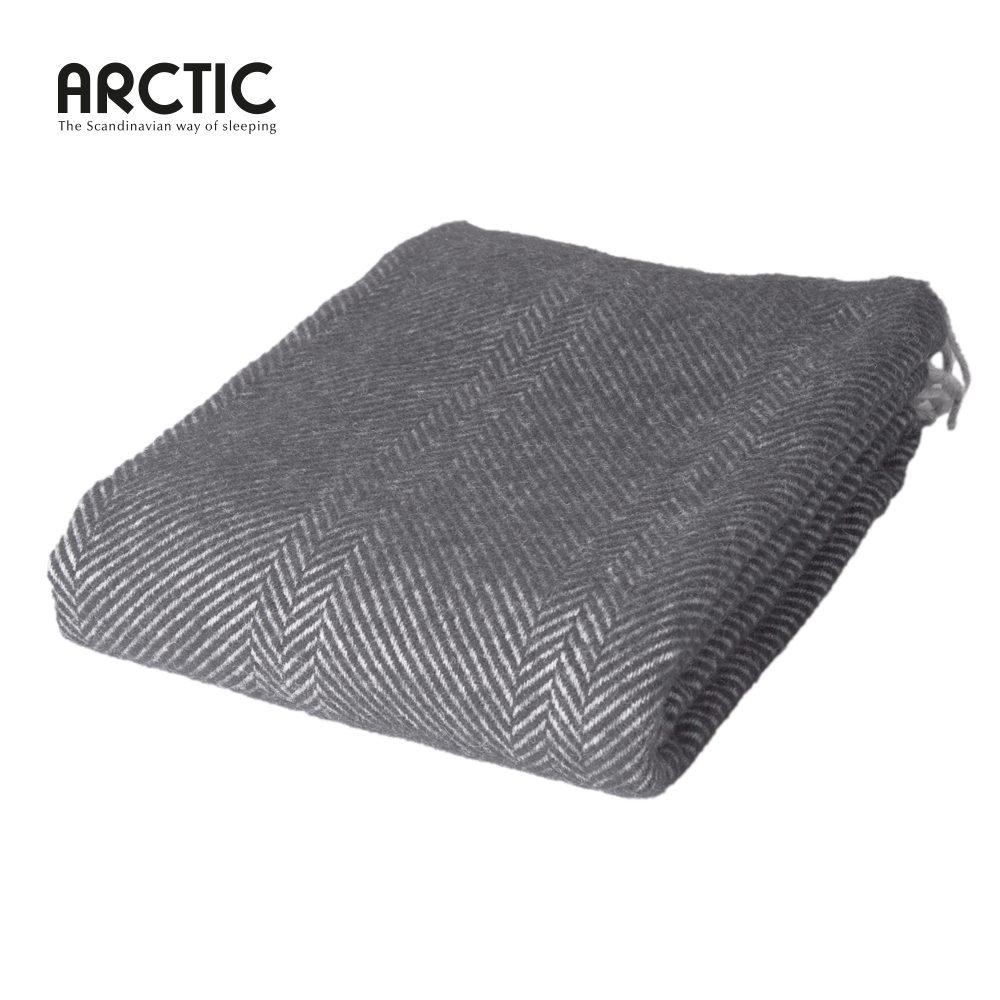 Uld plaid Herringbone mørkegrå fra Arctic