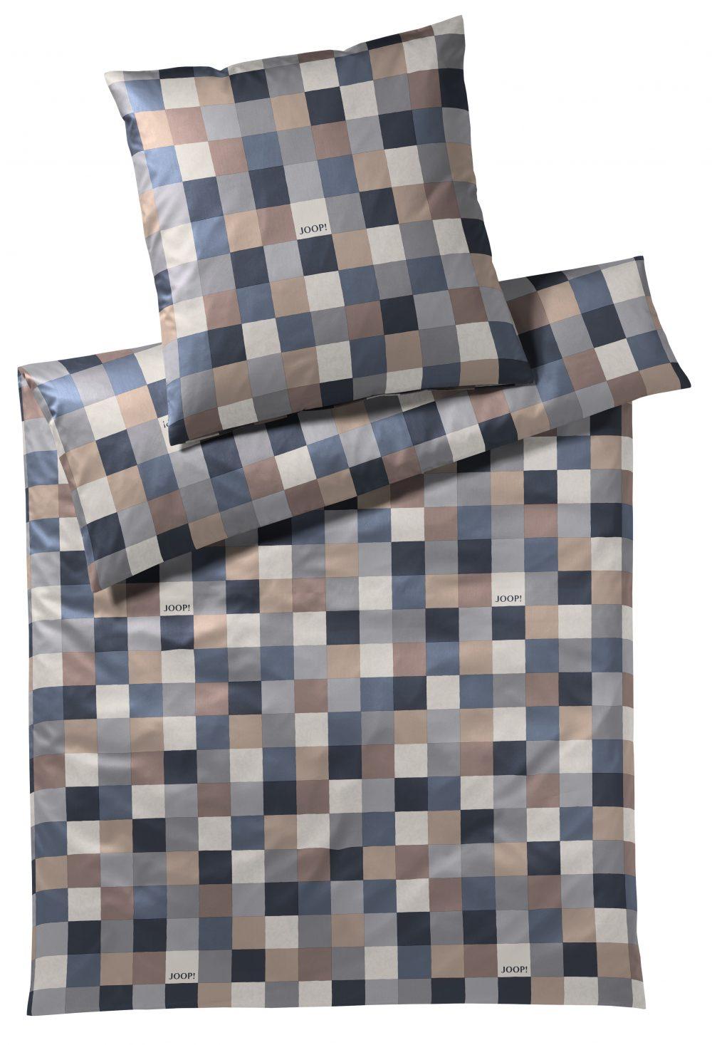 Sengetøj Mosaik Relaunch blå/sand fra Joop
