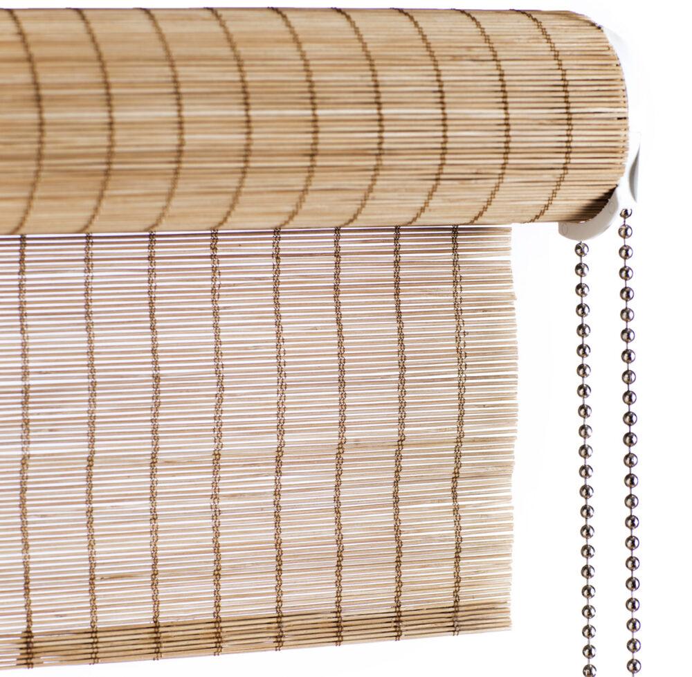 Bambus rullegardin med kæde brun fin fra Color & Co