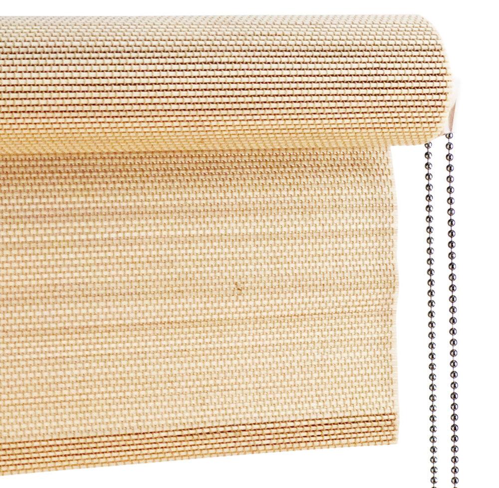 Bambus rullegardin med kæde lys fra Color & Co